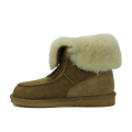 Comfortable sheepskin fluffy winter warm boots for women