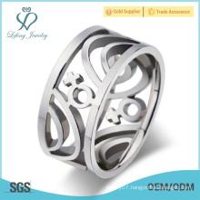 Stainless steel lesbian wedding rings,silver lesbian pride jewelry