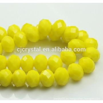 Perlas de cristal del neumático, granos del rondelle, florero cristalino de los granos de la decoración, granos cristalinos de China, granos cristalinos chinos