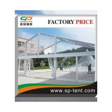 Court de tennis en PVC transparent Tente en forme de chêne en forme de châssis en aluminium avec doublure en plafond blanc pour déroger