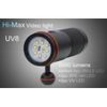 HI-MAX UV8 mit 5000 Lumen 8pc XM-L2 LED, 2pc XPE rote LED und 2pc UV LED 5000 Lumen führte Tauchen