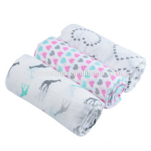 100% algodão bebê cobertor onda bebê musselina swaddle wraps