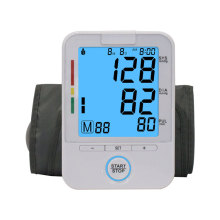 Backlight Sphygmomanometer Monitor Tekanan Darah Digital