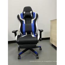 Cadeiras de jogos giratórias para computador com encosto alto e apoio para os pés