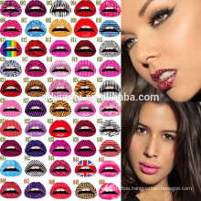Adhesive Tattoos for Skin, Lip Tattoo Sticker for Maquiagem