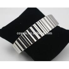 2016 al por mayor de alta calidad en blanco brazalete de pulsera pulseras de acero inoxidable de la joyería