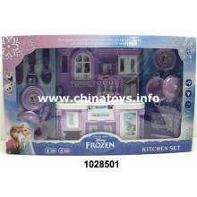 Hermoso juego de cocina de plástico para juguetes de niña (1028501)