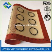 FDA approuvé anti-adhésif réutilisable sur mesure en silicone tapis de cuisson