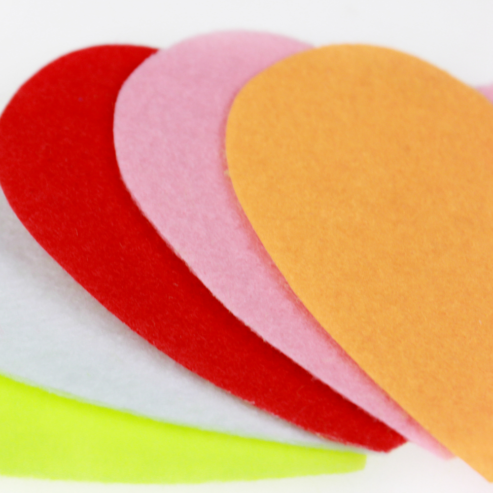 Valentine heart shape diecut felt pieces