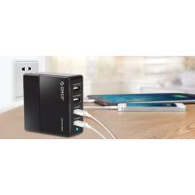 Adaptador de carregador de parede USB ORICO de 4 portas com tecnologia de carga inteligente (DCK-4U)