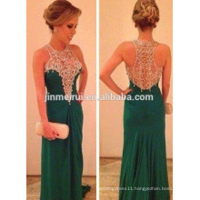 long chiffon vestidos 2016elegant high neck lace appliques prom gowns sleeveless evening party gowns