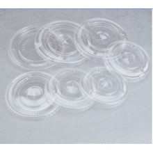 Pet Flat Lid with Straw Hole for Plastic Cup