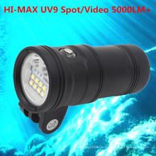 Tauchen LED Weitwinkel Video Kamera Tauchlicht Unterwasser 150M