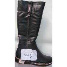 PU Ladies Fashion Knee-High Flat Boots (S 20-2)