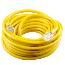 STOCK IN US! 100ft 16guage SJTW  3 Prong Outdoor retractable extension cord reel with lighted end for Construction Use (100Foot)