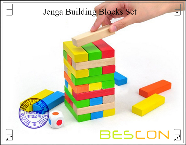 Jenga Building Blocks Set