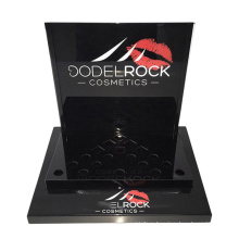 Cosmetic Lipstick Counter Black Acrylic Lip Gloss Display Stand