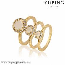 12872-Xuping aleación de cobre Precio de fábrica 3pcs diferentes tamaños de anillos establecidos