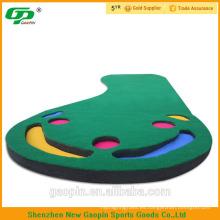 Venta caliente 3 '* 9' mini golf de interior barato Putting mat and putting carpet
