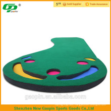 Hot selling 3'*9' cheap indoor mini golf Putting mat and putting carpet