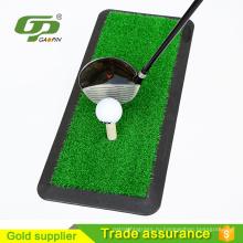 Мини искусственная трава для гольфа ударяет коврик и резиновые положить коврик и качели мат