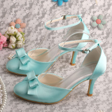 Wedopus Mint Green Wedding Dama de honor Zapatos