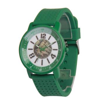 Reloj de pulsera con diseño de aleación de colores, correa de silicona Geneva Watch