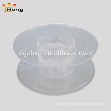 Bobina de plástico transparente de 200 mm para o filamento da impressora 3D