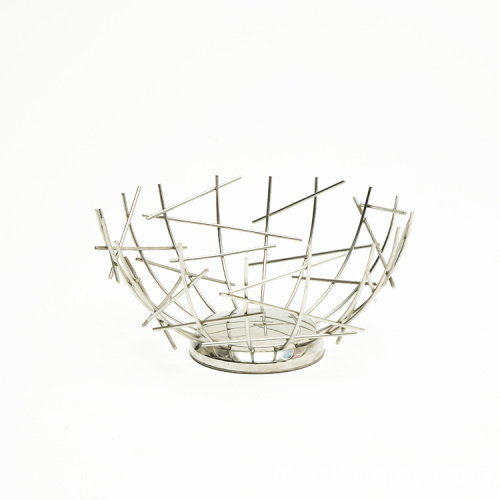 Nordic Creative Iron Fruit Basket Home Living Room Storage Supplies Fruit Tray Snack Storage Basket