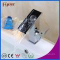 Fyeer Bathrooom Uncovered Waterfall - Grifo monomando para lavabo, cromo, lavabo, una manija