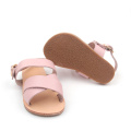 Summer Pink Girl Soft Leather Sandals Kids