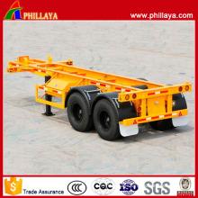 Tandem 2 Axles 20ft Container Transport Skeleton Semi Trailer