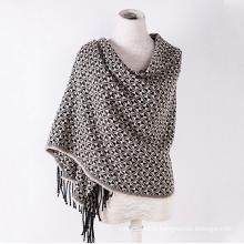 Cachemire des femmes comme classique foulard châle impression d'hiver tricoté à carreaux (SP303)
