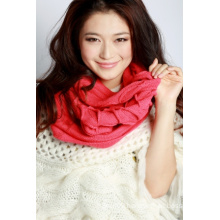 Acrylic Knitted Scarf (12-BR-201712-5.1)