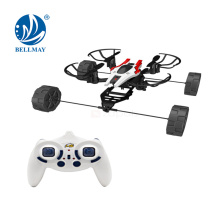 2.4 GHz RC Drone 6 axis gyro with strong stabilityQ 360 degree rollover with the air mode