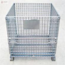 malha de arame dobrável galvanizada dobrável para armazenamento de metal