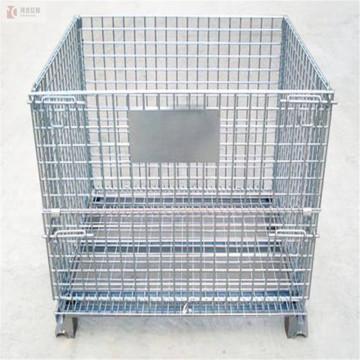 оцинкованная складная складная металлическая проволочная сетка для хранения