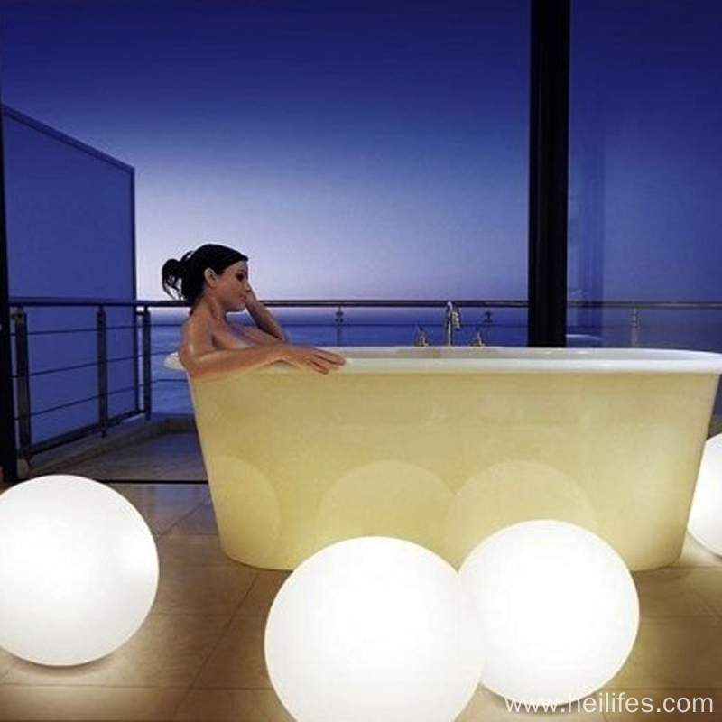 LED ball light in the Swimming Pool