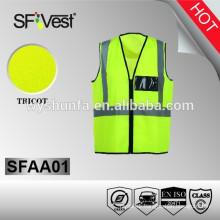 safety production hi vis workwear safety vest with pockets