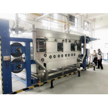 Машина для предварительной установки в термоусадочную пленку для удаления складок текстиля