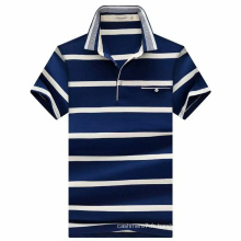 Polo en coton à rayures en coton OEM pour homme