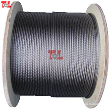 Prix d'usine 1mm câble métallique en acier inoxydable 7 * 7