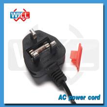 UK Fuse Power Cord avec 2.5A 250V Plug
