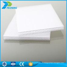 Protection UV de qualité supérieure 8 mm de poids de la feuille double paroi en polycarbonate