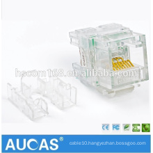 Factory Offer Network Cable Keystone RJ45 Jack Cat5e Unshielded Keystone Wall