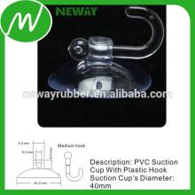 Taza de succión eléctrica de 40 mm con gancho de plástico medio