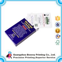 impressão feita sob encomenda barata personalizada do cartão de jogo