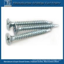 Blue White Zinc Galvanized Drywall Screw