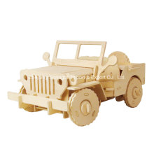 Boutique Colourless Wood Toy Vehicles-Jeep
