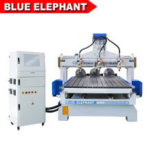 Jinan Blue Elephant 1325 Multi Head CNC Router Rotary Machine for Wood Furniture Industry